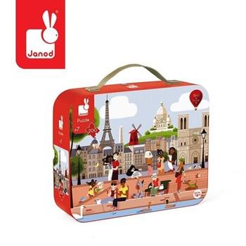 Janod: Puzzle w walizce Paryż 200 elementów