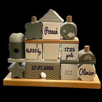 Usługa personalizacji klocków drewnianych