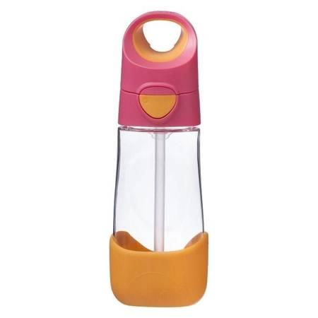 B.Box - Tritanowa butelka ze słomką 450 ml róż