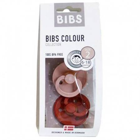 BIBS - Zestaw smoczków M Blush & Rust