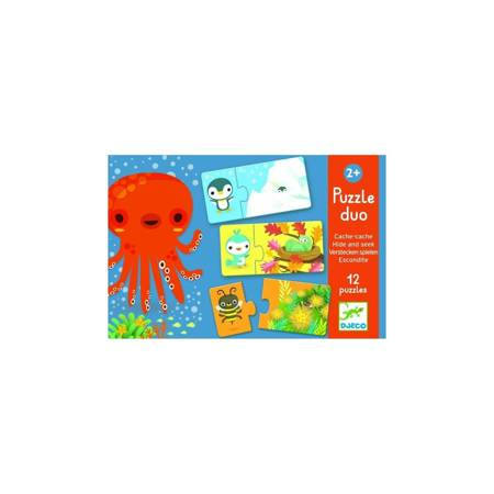 Djeco: Puzzle dwuelementowe akuku