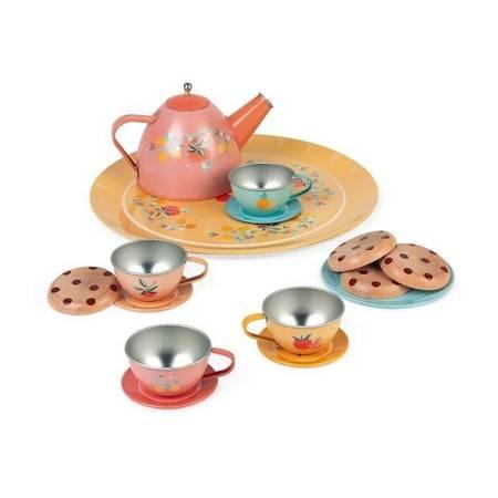 Janod: Metalowy serwis do herbaty 15 elementów