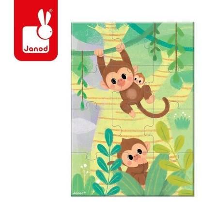 Janod - Mini puzzle do kolekcjonowania Małpki