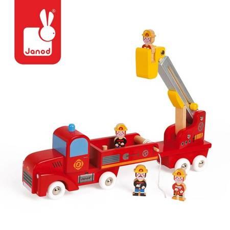 Janod - Straż pożarna drewniana z 4 postaciami